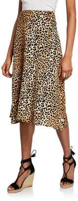 Faithfull The Brand Valois Leopard Midi Skirt