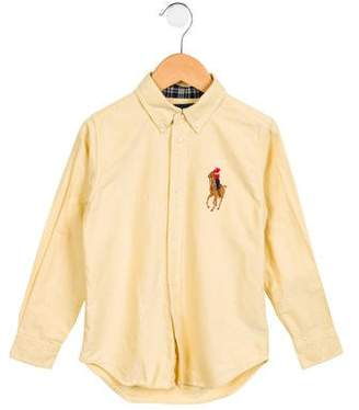 Ralph Lauren Boys' Long Sleeve Button-Up Shirt