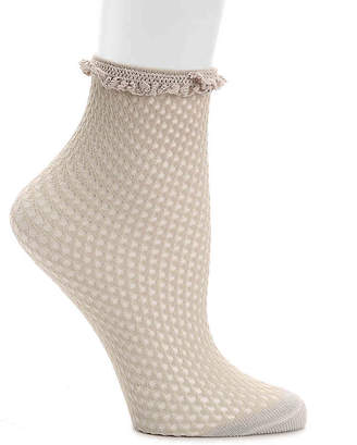 Lemon Lace Ruffle Ankle Socks - Women's