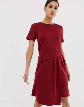 Asos Design DESIGN oversized drape midi t-shirt dress