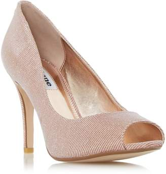 Dune LADIES DINAA - Peep Toe High Heel Court Shoe