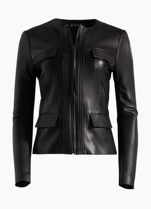 St. John Luxe Nappa Leather Jacket