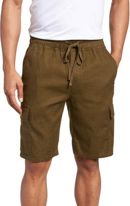Vince Stretch Linen & Cotton Cargo Shorts
