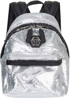 Philipp Plein Small Sequin Backpack
