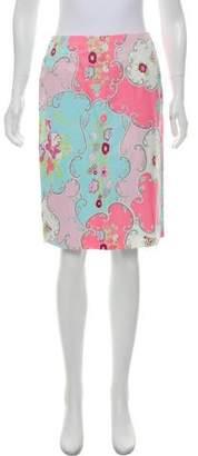 Blumarine Printed Knee-Length Skirt