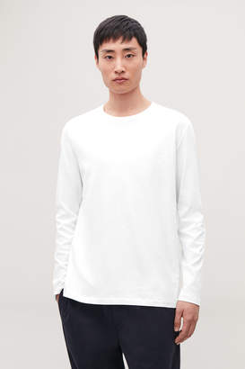 Cos LONG-SLEEVED BRUSHED-COTTON T-SHIRT