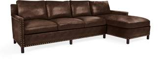 Serena & Lily Spruce Street Right-Facing Chaise Sectional with Nailheads