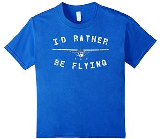 I'd Rather Be Flying C172 Airplane Vintage Pilot T-Shirt