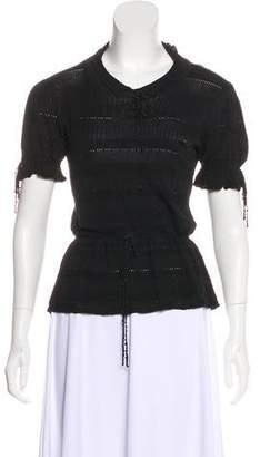 Louis Vuitton Silk-Blend Pointelle Top