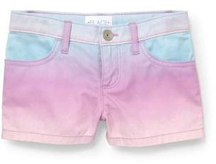 Children's Place The Girls' Twill Ombre Short