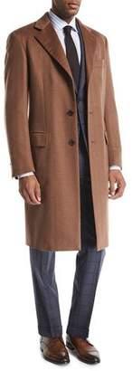 Brioni Single-Breasted Cashmere Top Coat