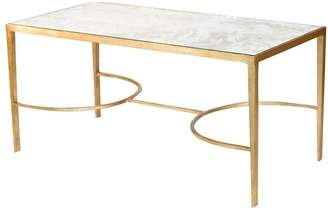 Worlds Away Antique Mirror Sabor Coffee Table, Gold