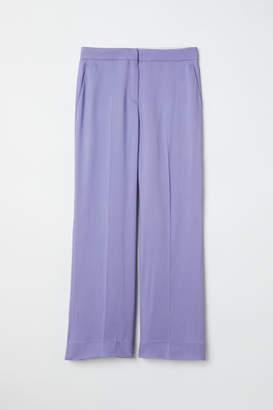H&M Wide-leg Pants - Purple