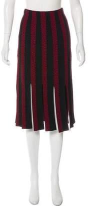 Cinq à Sept Fringe Knee-Length Skirt