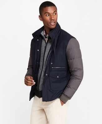 Brooks Brothers Water-Resistant Wool-Blend Bomber Jacket