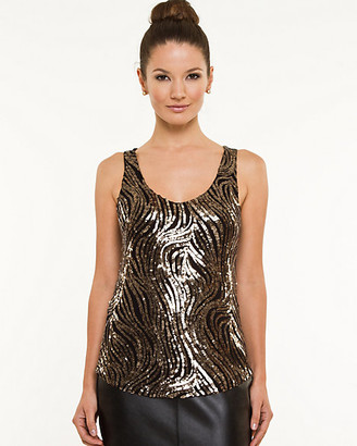 5496f653dab6ad Gold Sequin Tank Top - ShopStyle Canada