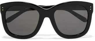 Linda Farrow Oversized Square-frame Acetate Sunglasses - Black