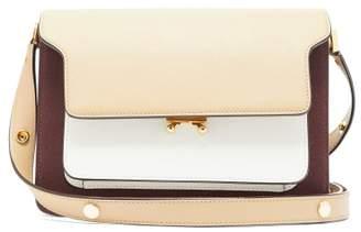 Marni Trunk Medium Saffiano Leather Shoulder Bag - Womens - Beige Multi