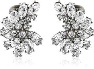Ben-Amun Jewelry Swarovski Crystal Cluster Clip-On Earrings