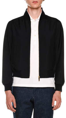Thom Browne Ribbed Blouson Bomber Jacket