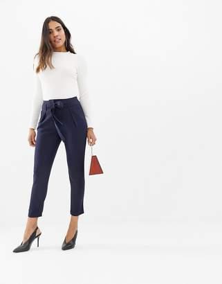 Lipsy peg pants with belt