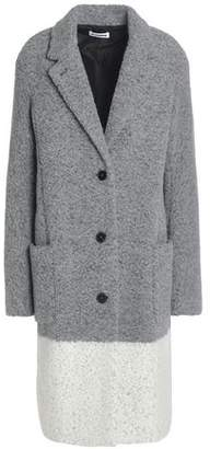Jil Sander Two-Tone Wool-Blend Bouclé Coat