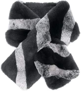 a7c09461b Striped Fur Scarf - ShopStyle UK