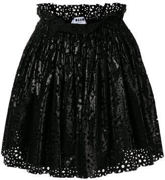 MSGM laser-cut full skirt
