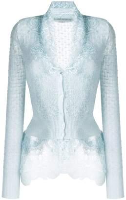 Ermanno Scervino slim-fit lace cardigan