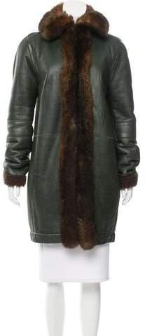Balenciaga Balenciaga Shearling Fur-Trimmed Coat