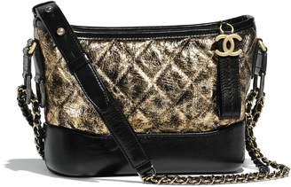 Chanel Gabrielle Hobo Bag Metallic Small Gold/Black