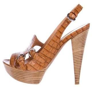 Sergio Rossi Leather High Heel Sandals