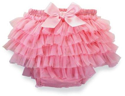 Mud Pie Baby-Girls Newborn Pretty In Pink Chiffon Bloomers
