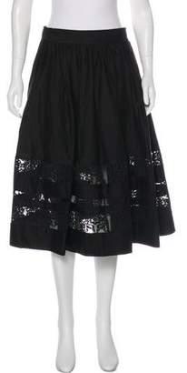 Alice + Olivia Guipure Lace Knee-Length Skirt