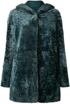 Drome hooded fur jacket