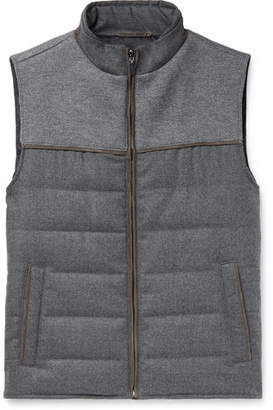 Hackett Slim-Fit Panelled Quilted Jersey And Virgin Wool Down Gilet