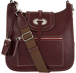 As Is Dooney & Bourke Florentine Toscana Front Zip Crossbody $304 thestylecure.com