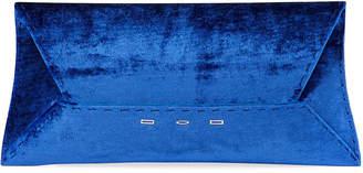 VBH Manila Stretch T Velvet Clutch Bag, Blue