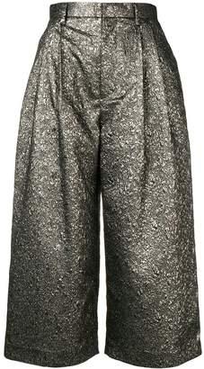 Comme des Garcons metallic textured culottes