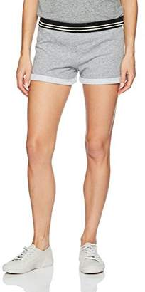 Monrow Women's Vintage Cut Off Short with Rib