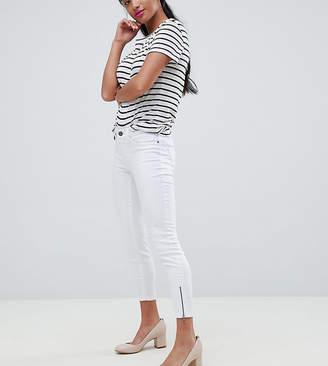 Vero Moda Petite Super Skinny Jean With Ankle Zip