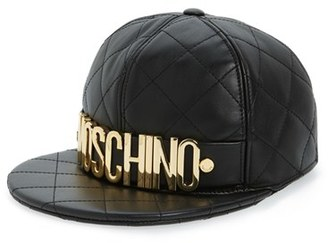 Moschino Quilted Leather Baseball Cap $495 thestylecure.com