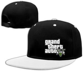 BONGJIU-CAPS GTA 5 Grand Theft Auto V Game Logo Hit Color Hip-Hop Baseball Cap Hat