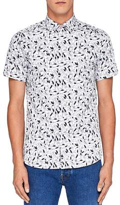 Ted Baker Saquili Floral Print Regular Fit Button-Down Shirt