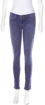 Current/Elliott Printed Low-Rise Jeans