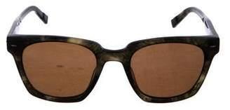 John Varvatos Tortoiseshell Wayfarer Sunglasses