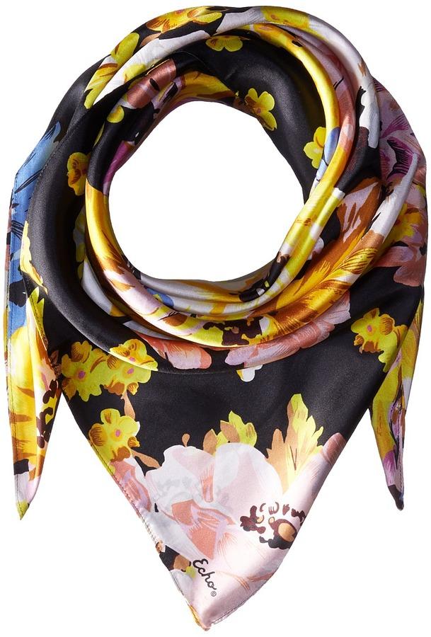 Echo Design Floral Silk Square Scarf
