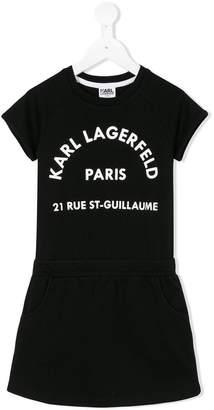 Karl Lagerfeld short-sleeved logo dress
