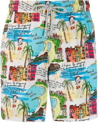 Riviera Bluemint French print swim shorts