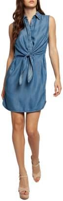 Dex Tie-Waist Sleeveless Shirtdress